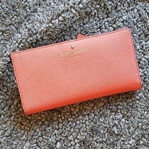 Kate Spade melon color wallet